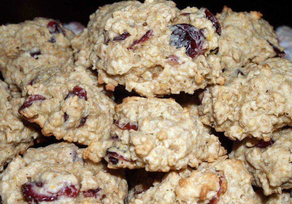 lemon cranberry oatmeal cookies