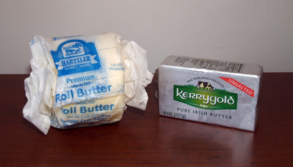 Hartzler Dairy Farm Butter Versus Kerrygold