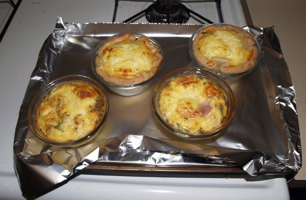 quiches after baking