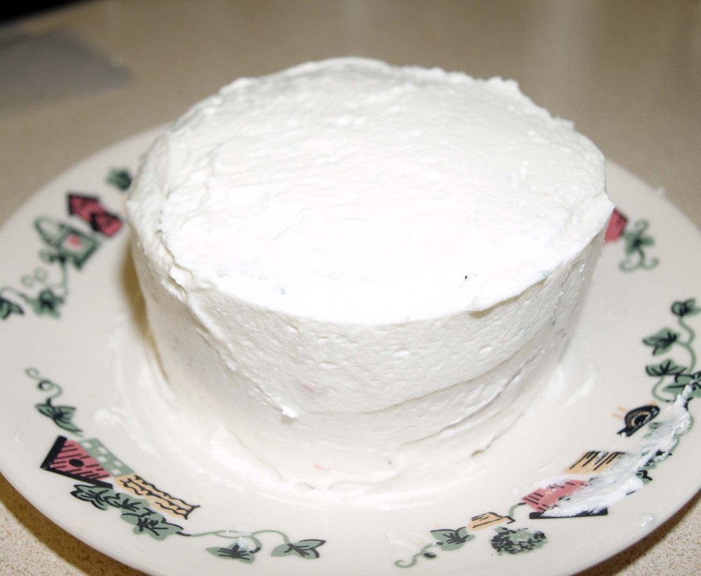 frosted cake