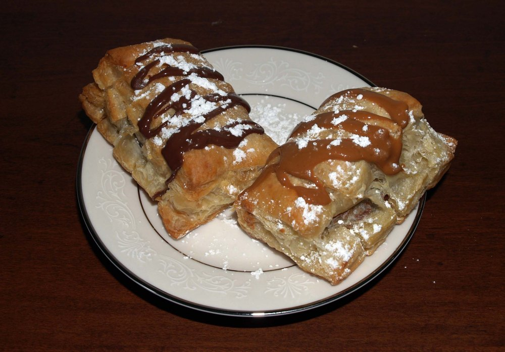 nutella and cookie butter bear claws