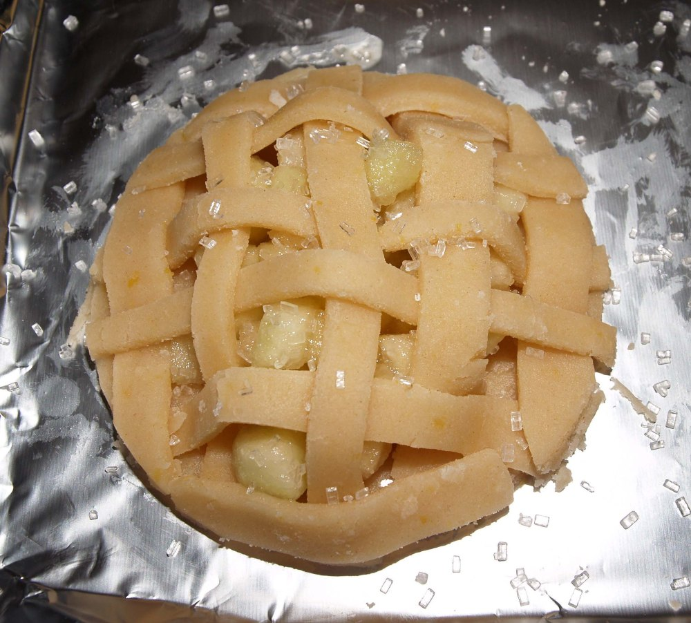 apple cookie pie with lattice crust