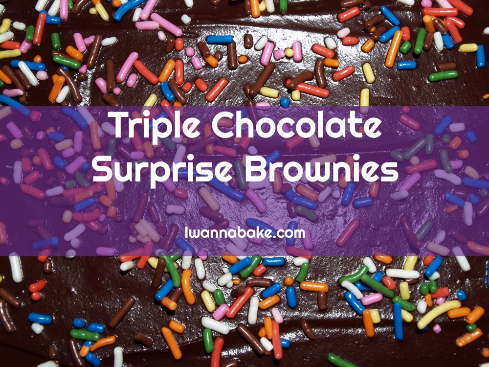 triple chocolate surprise brownies