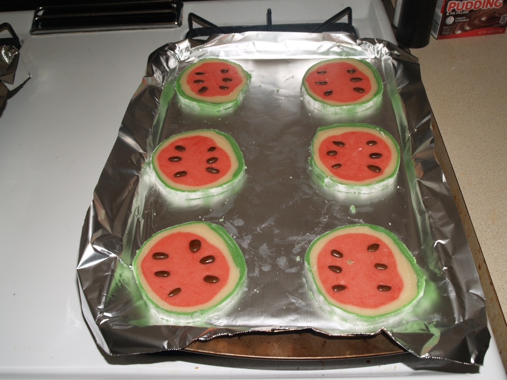 sliced and prepared cookies