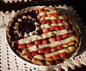 American Flag Cherry Blueberry Pie