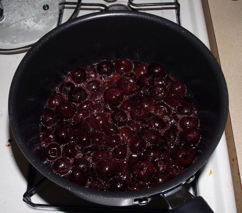 cherries after releasing juice