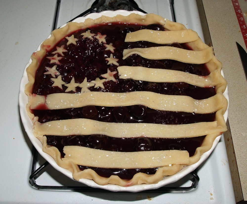 american flag pie before baking