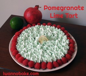 pomegranate lime tart