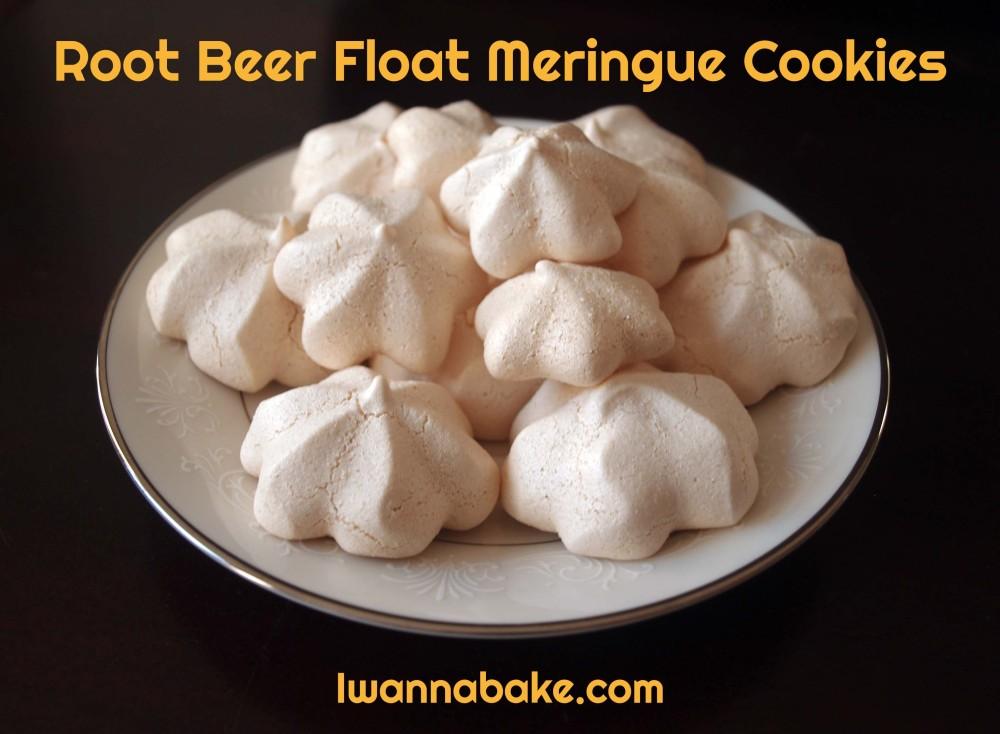 root beer float meringue cookies