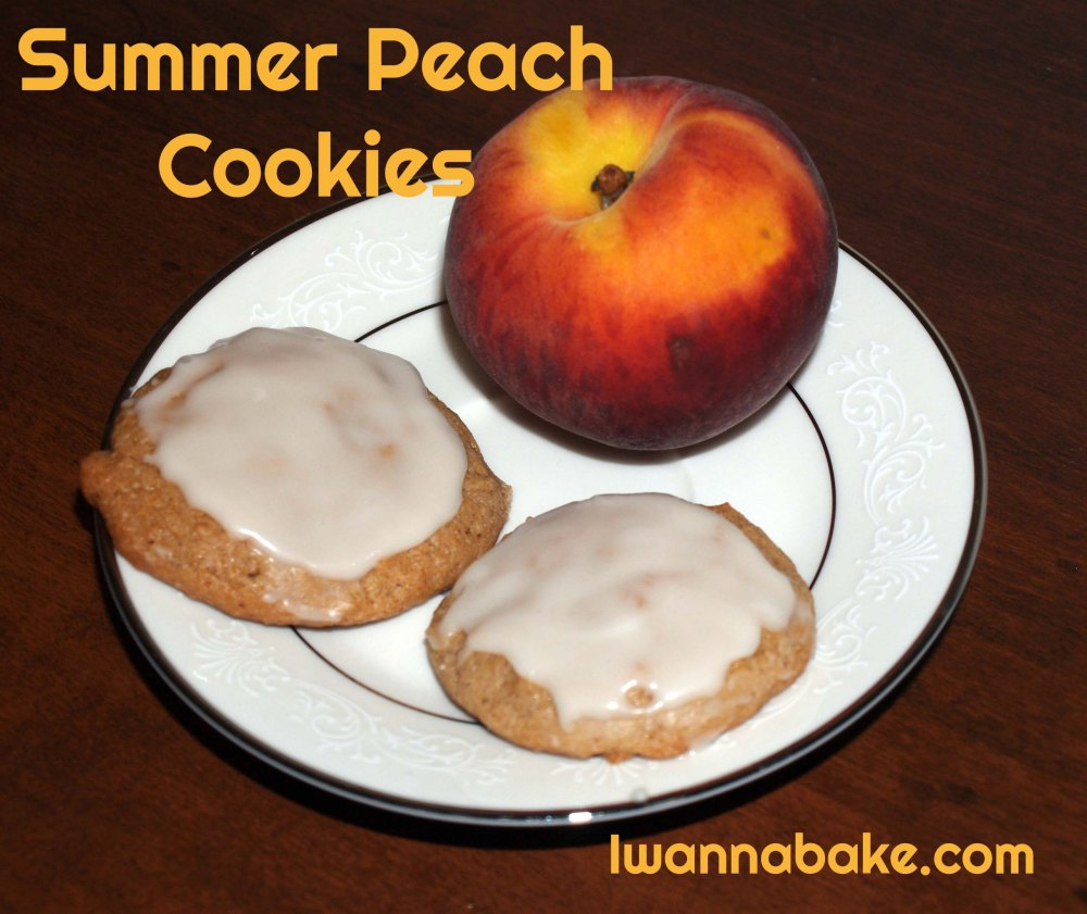 summer peach cookies
