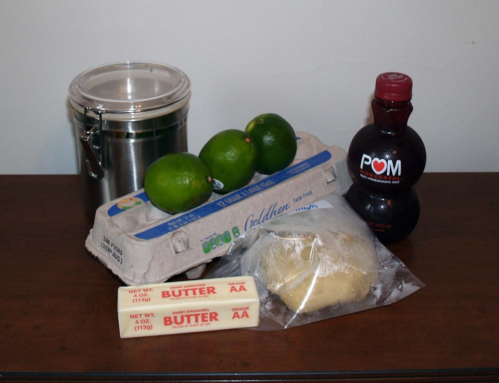 pomegranate lime tart ingredients