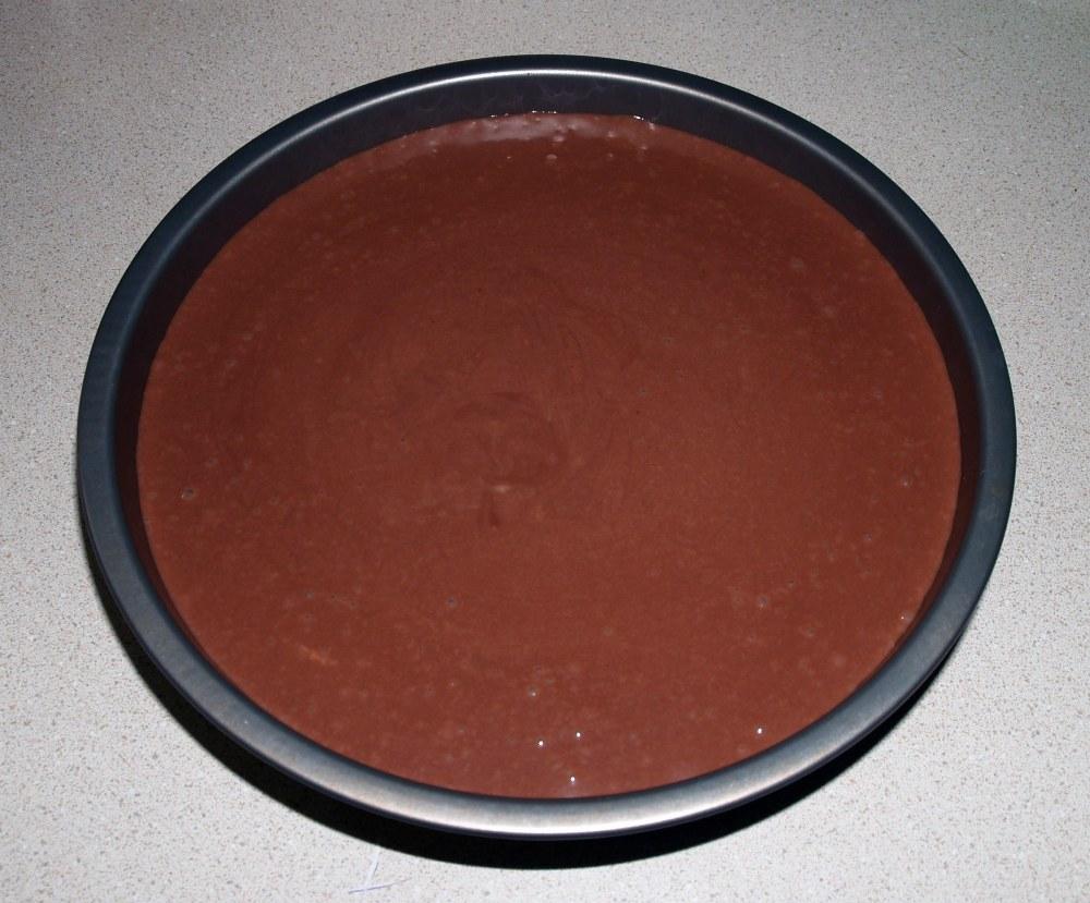 filled cake pan