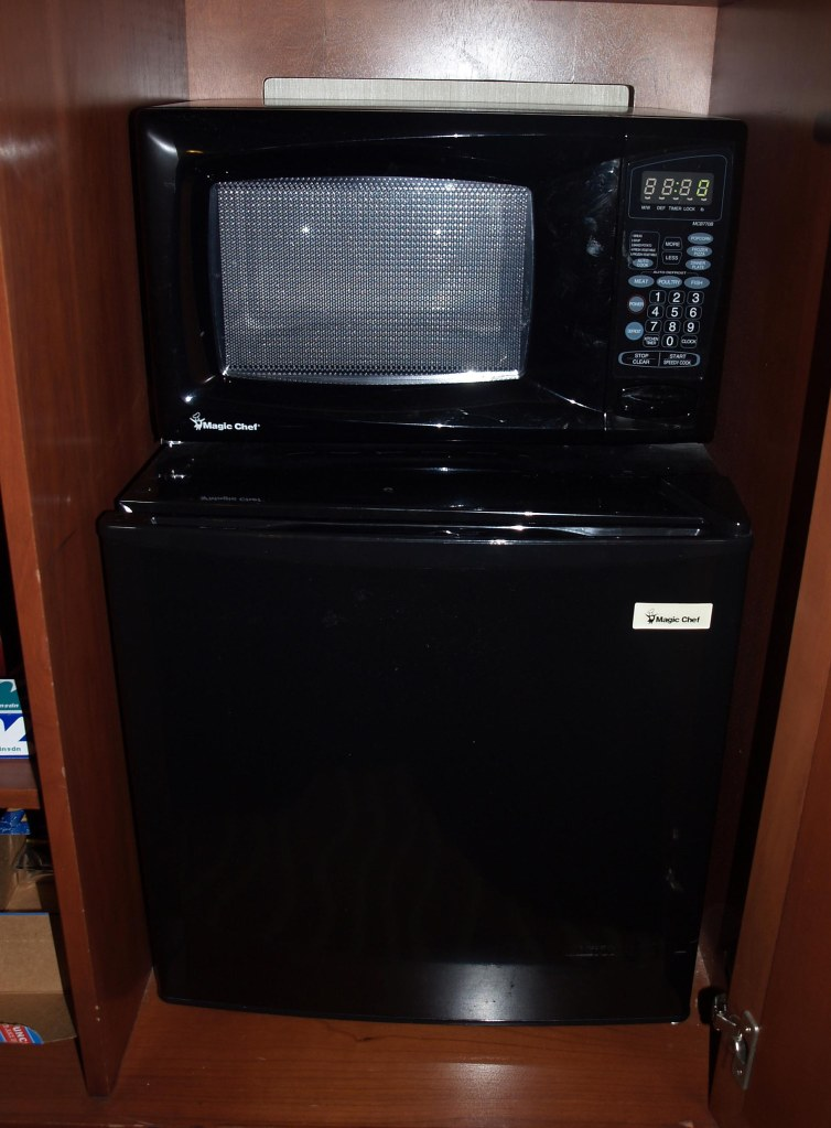 hotel microwave setup