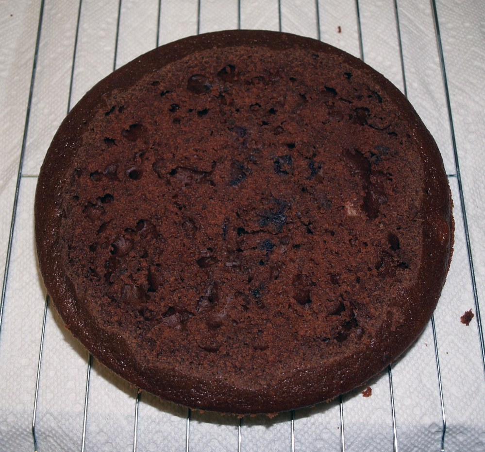 leveled chocolate cake