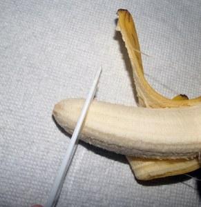 "1/2"" of banana"