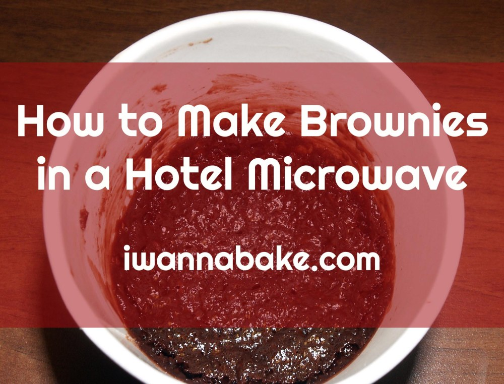 how to make brownies in a hotel microwave