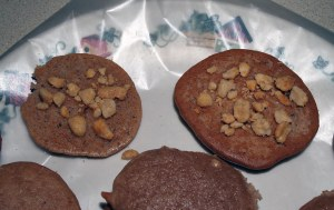 cakes topped with nuts