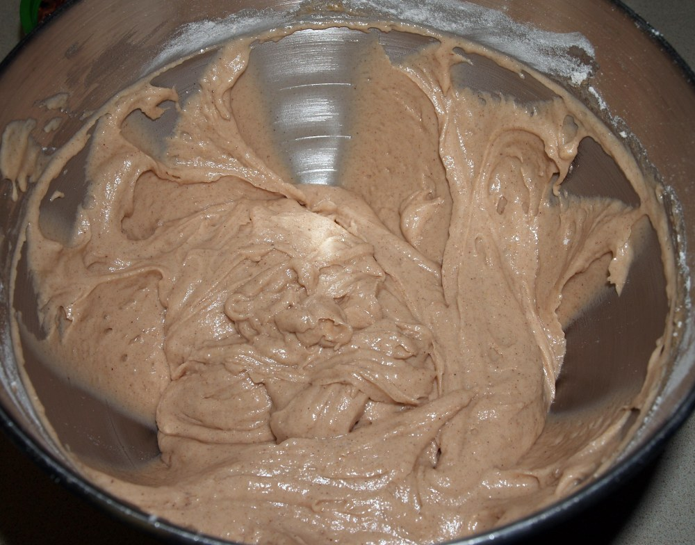 cinnamon apple cake batter