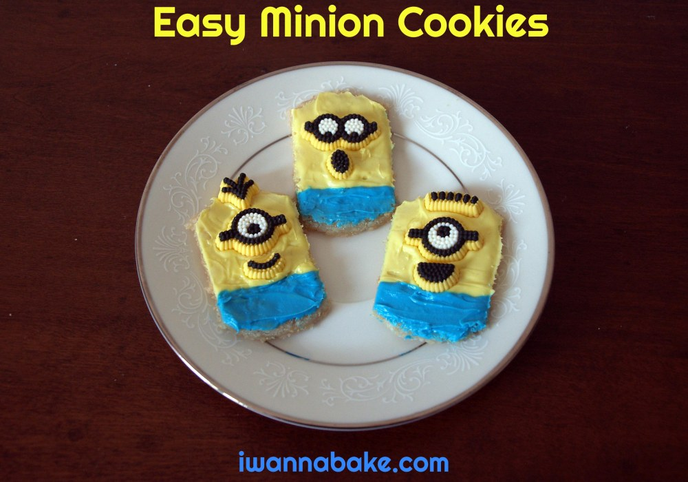easy minion cookies