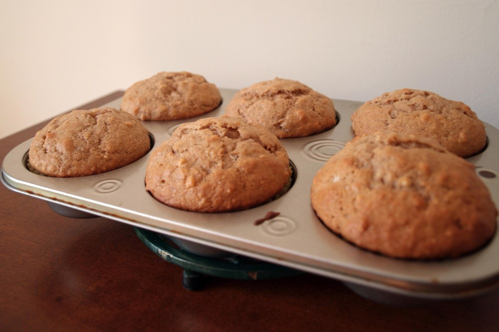 finished banana nut muffins