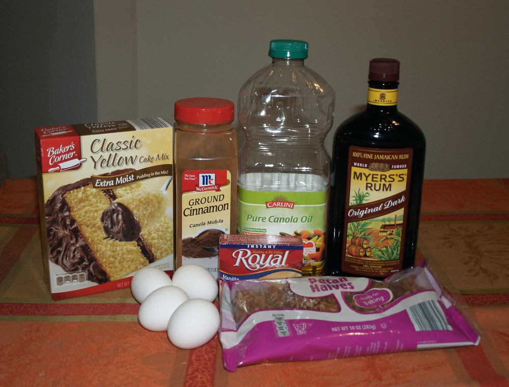 Spiced Rum Cake Ingredients