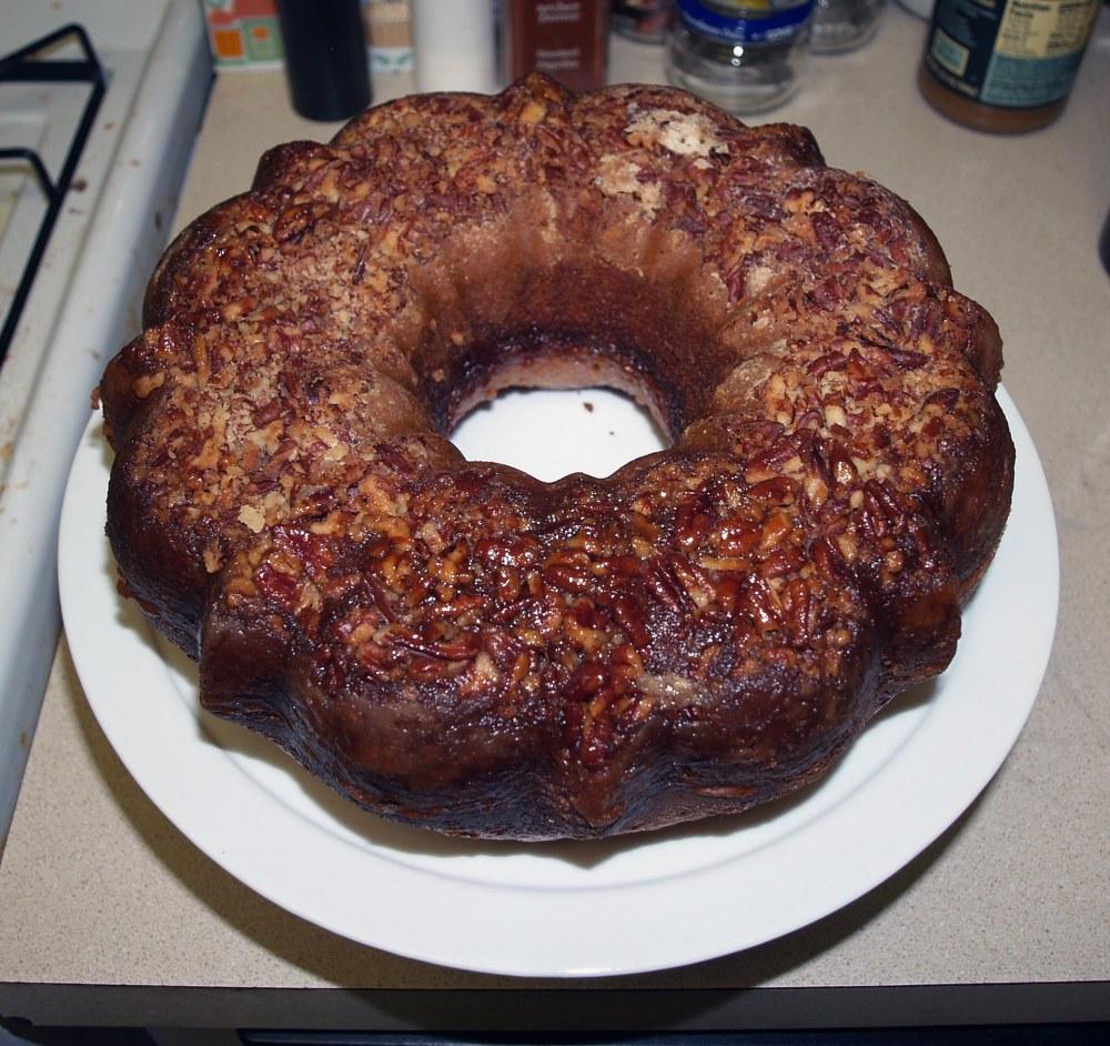 Unmolded Rum Cake