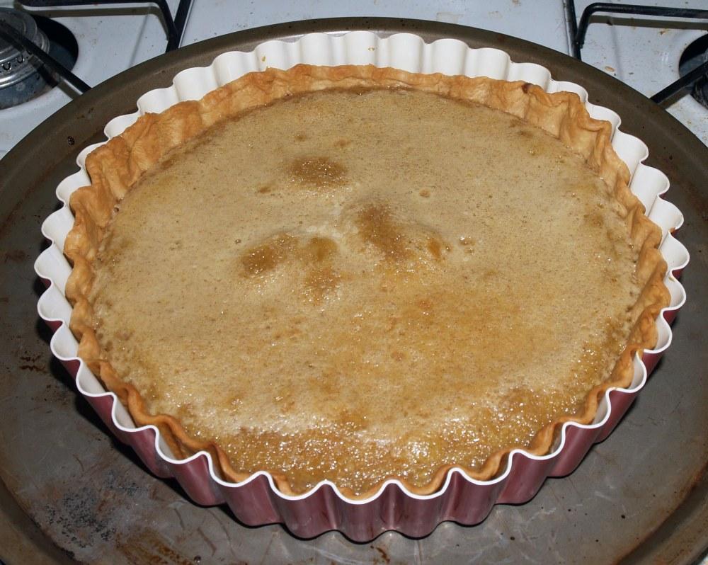 baked cinnamon tart