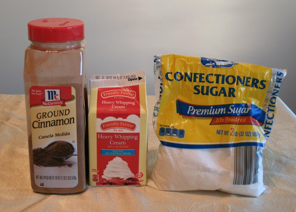 cinnamon whipped cream ingredients