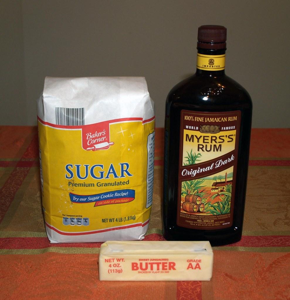 Spiced Rum Cake Glaze Ingredients