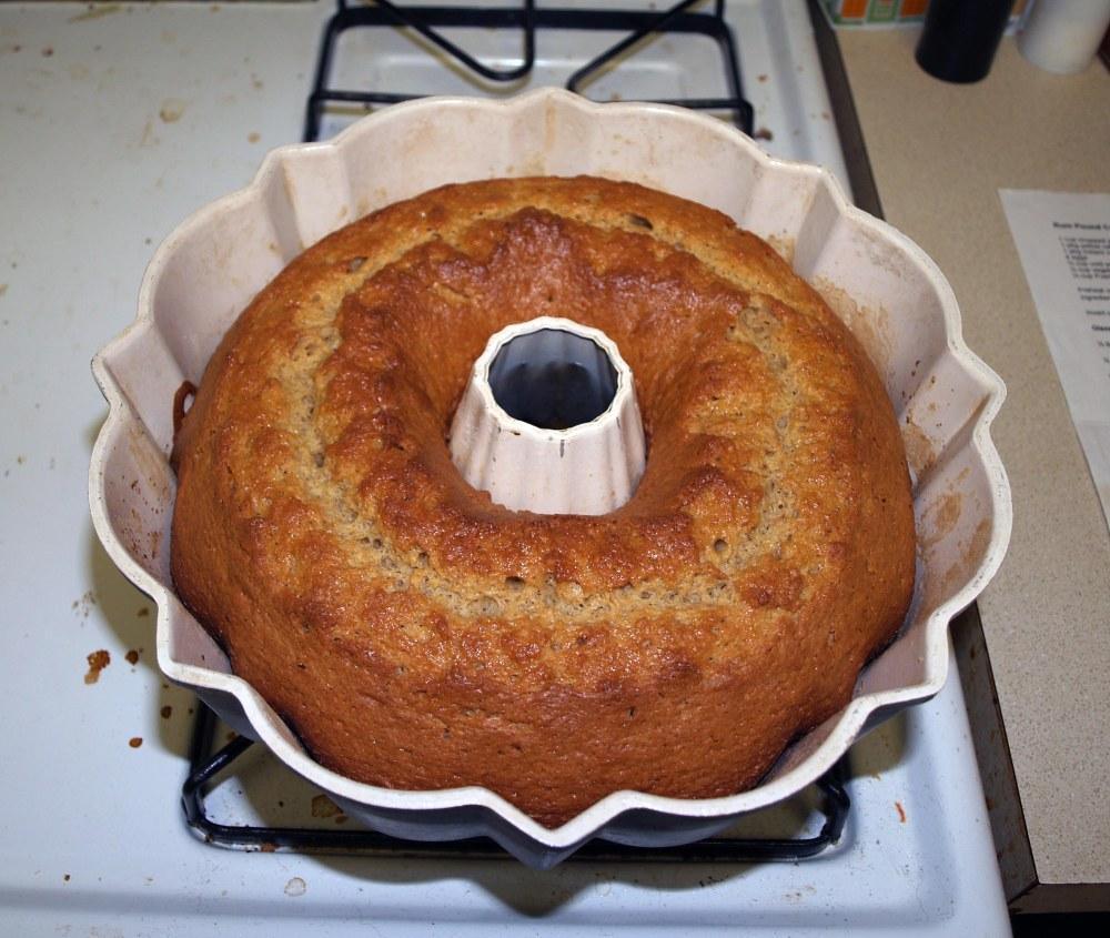 Baked Rum Cake