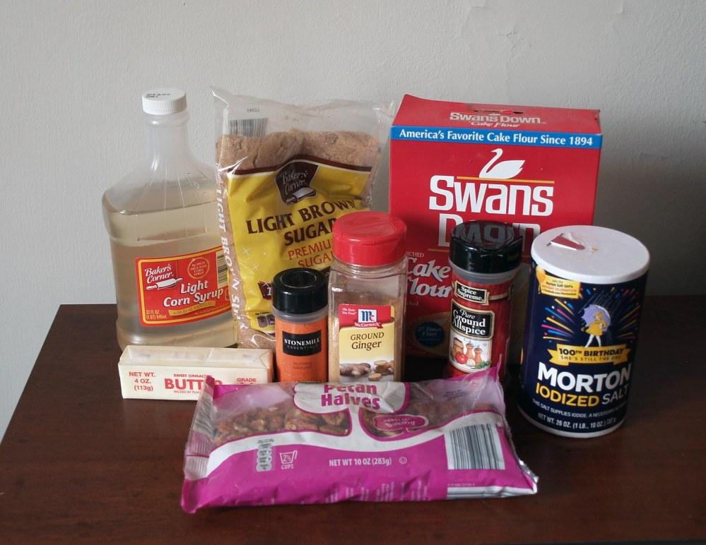 pecan lace cookie ingredients