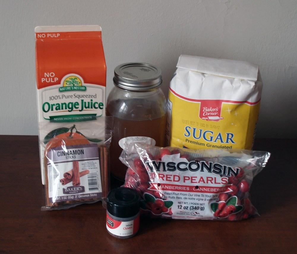 Cranberry Wassail Jam Ingredients