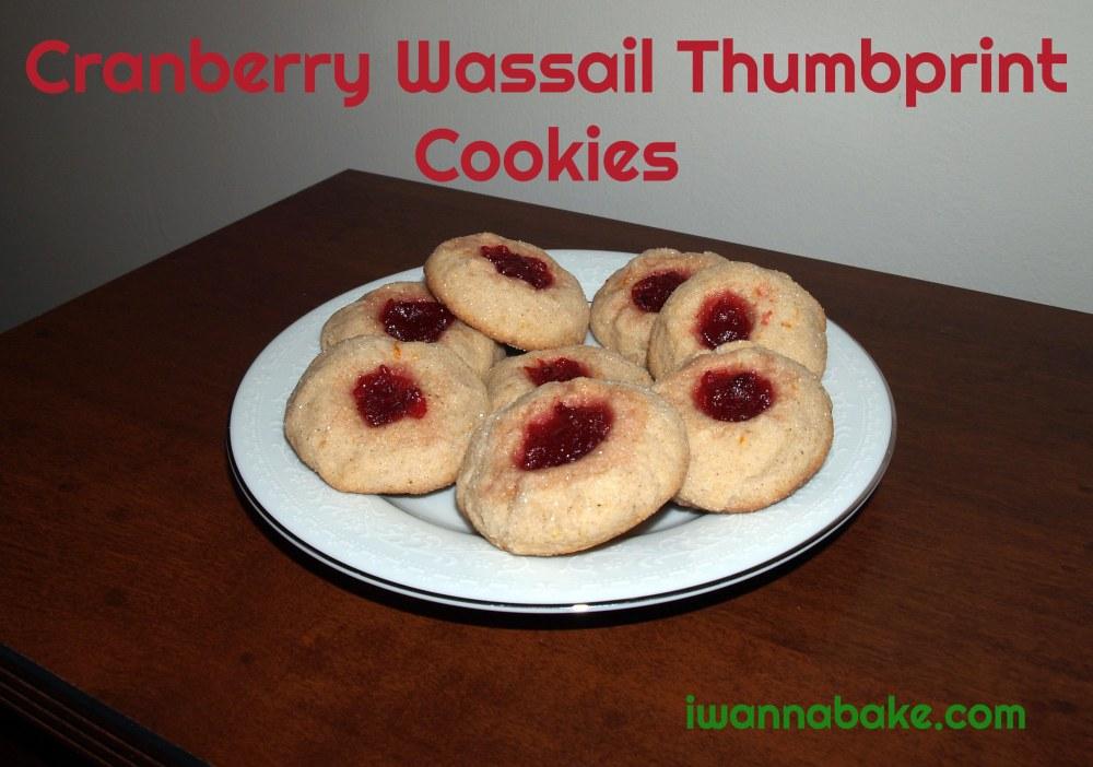 cranberry wassail thumbprint cookies