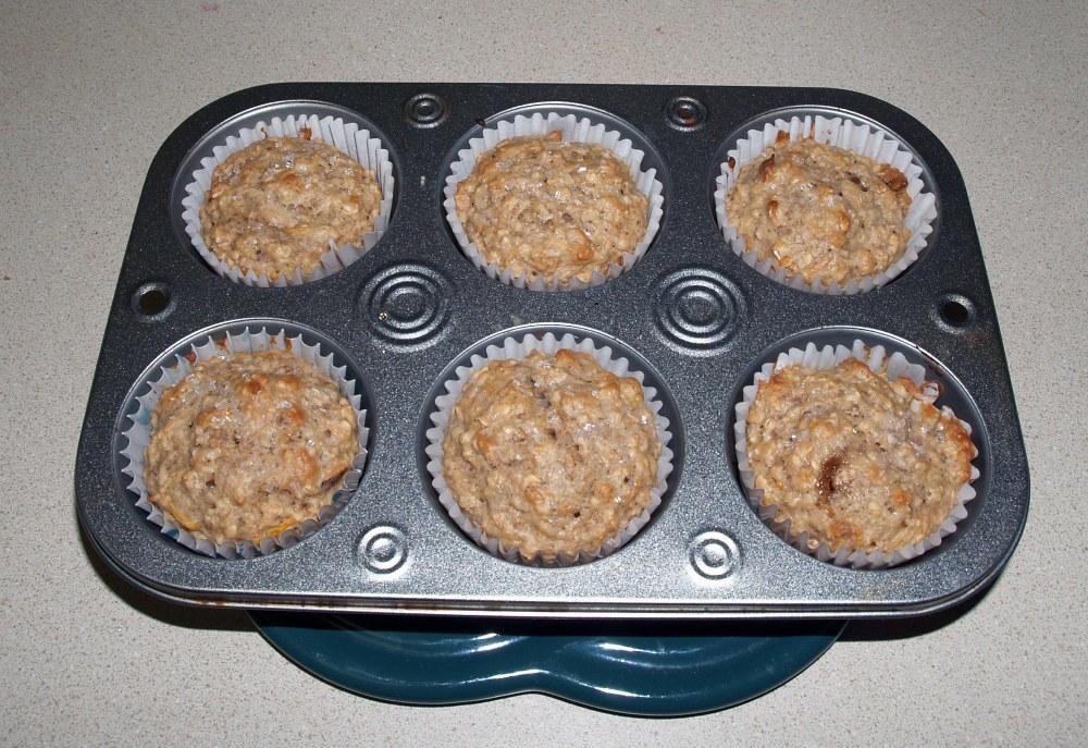 Baked Grapefruit Oatnut Muffins