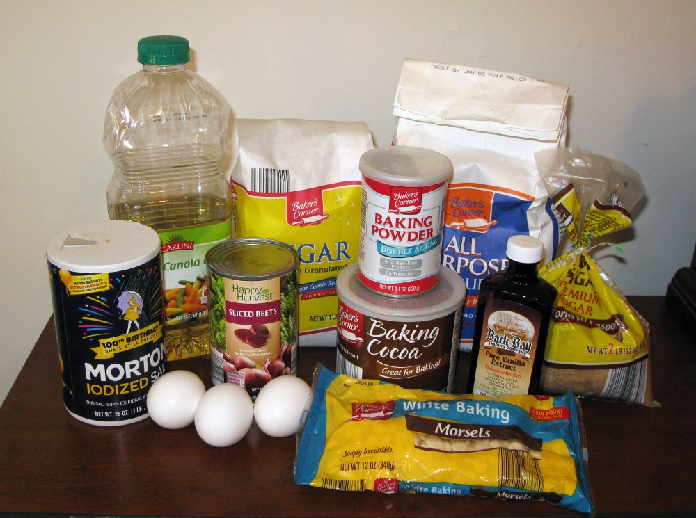 Red Velvet Beet Brownie Ingredients