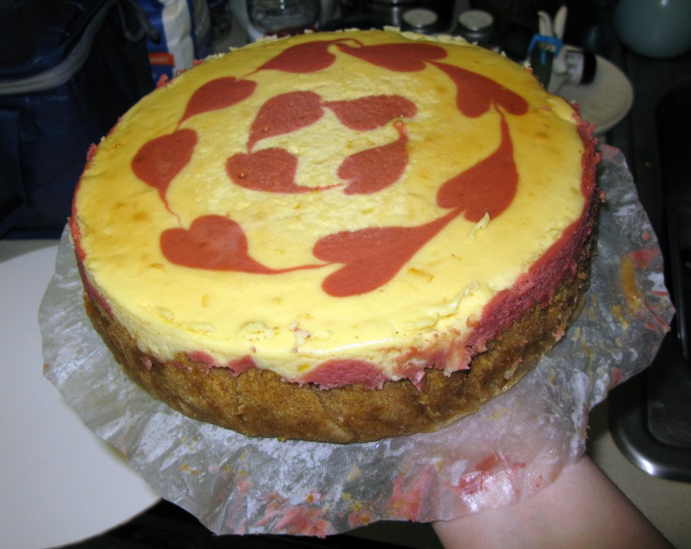 Unmolded Cheesecake