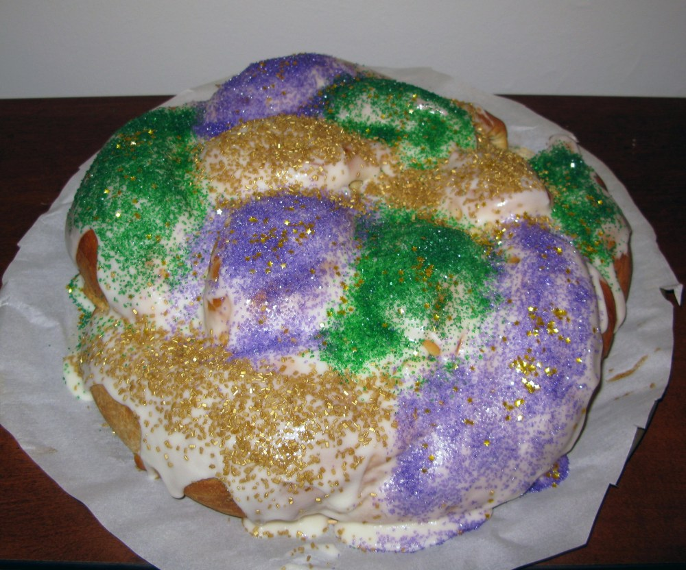 Decorated King Cake