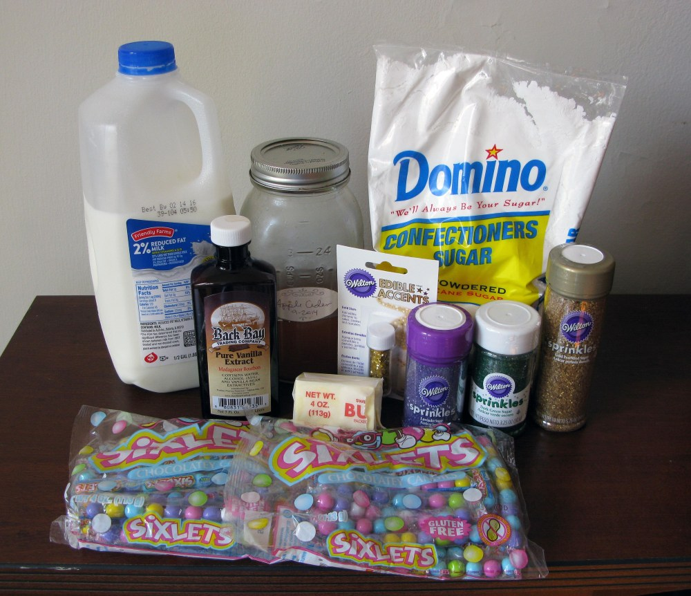 King Cake Decoration Ingredients