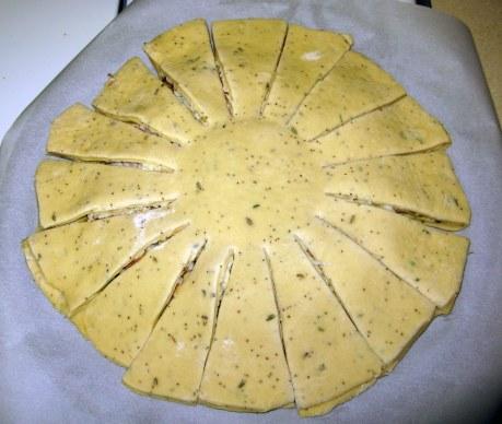 Fully-cut dough