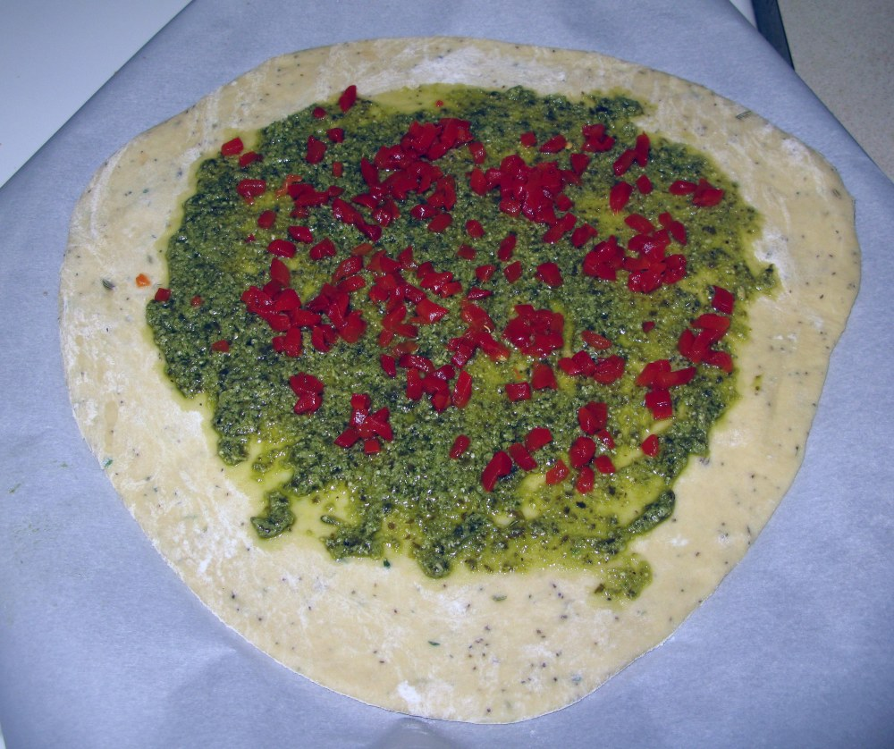 Pesto and Pimento Layer