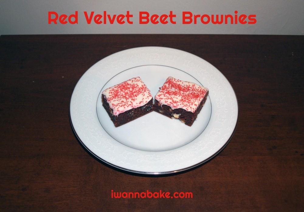 Red Velvet Beet Brownies