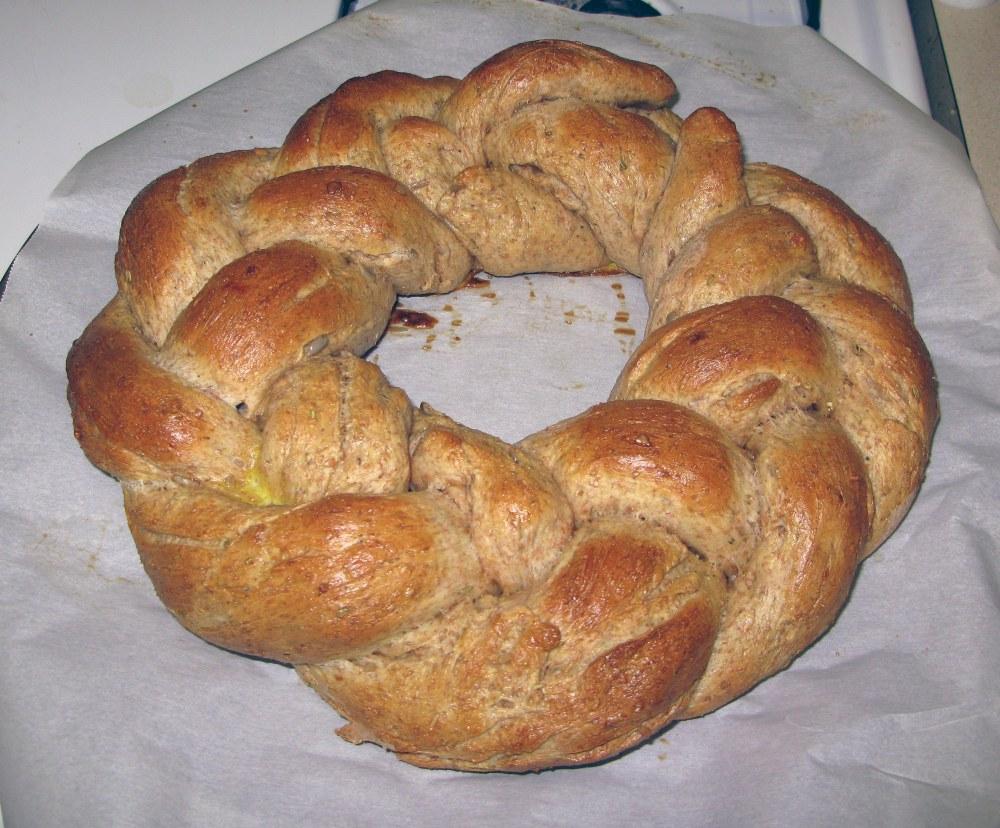 Baked Robin's Nest Bread