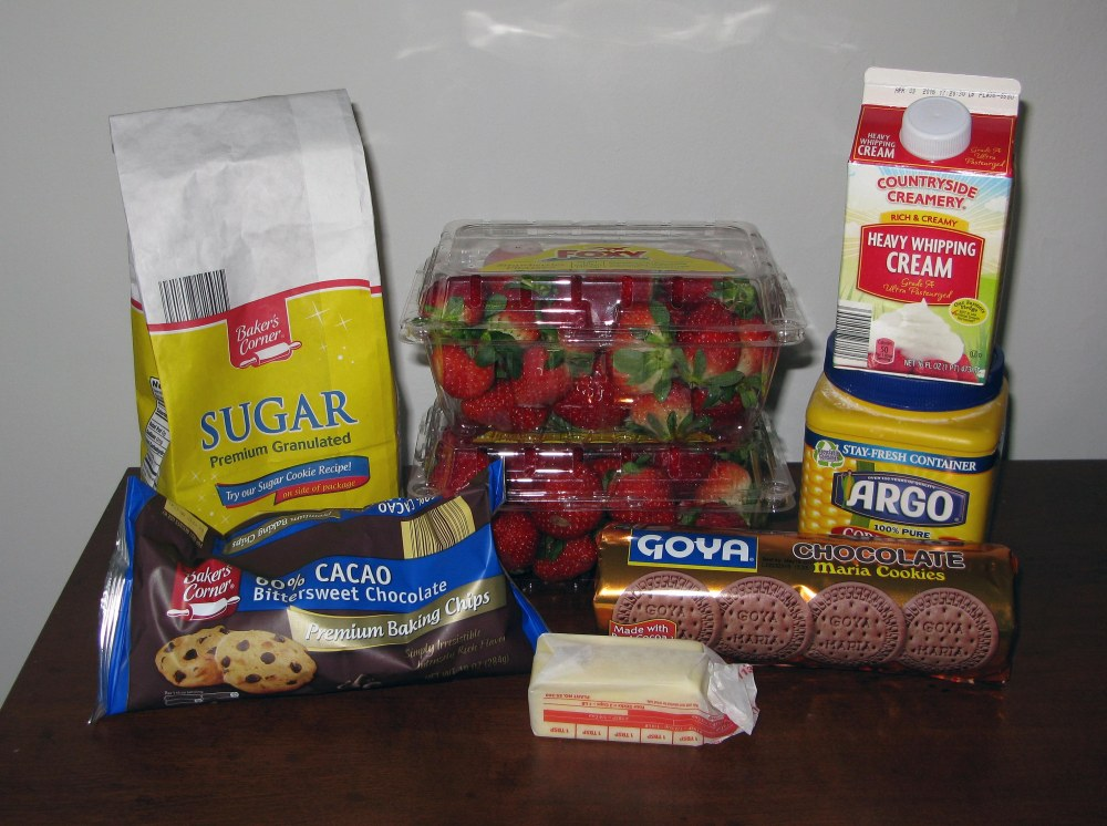 Chocolate Strawberry Pie Ingredients
