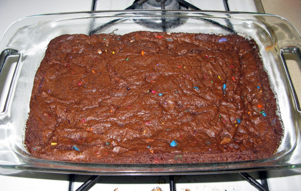 Baked Garbage Brownies