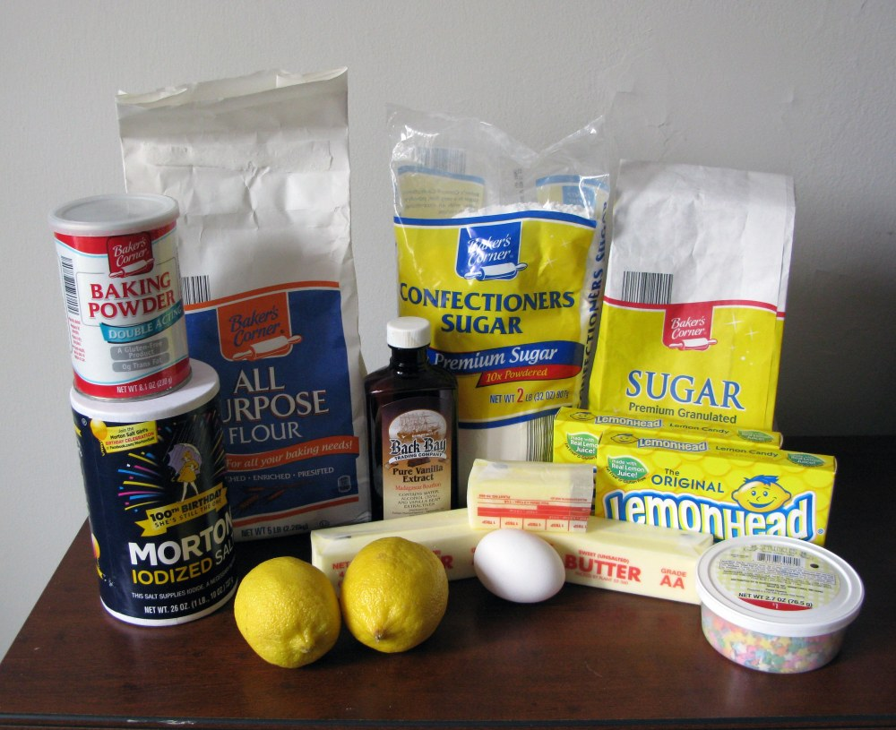 Lemonhead Cookie Ingredients