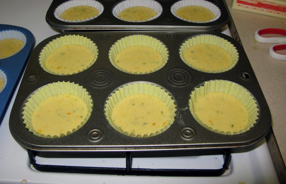 Black-Eyed Susan Cupcake Batter in Wrappers