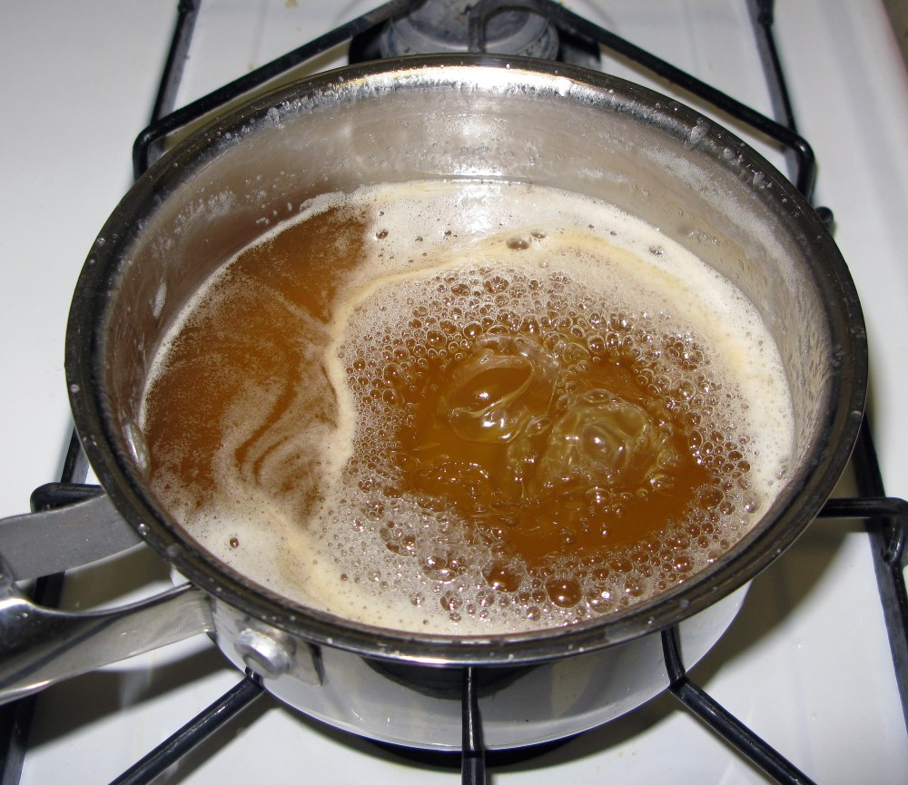 Boiling Syrup with Bourbon