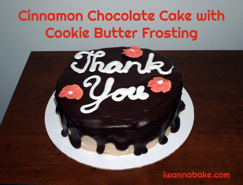 Cinnamon Chocolate Cake with Cookie Butter Frosting