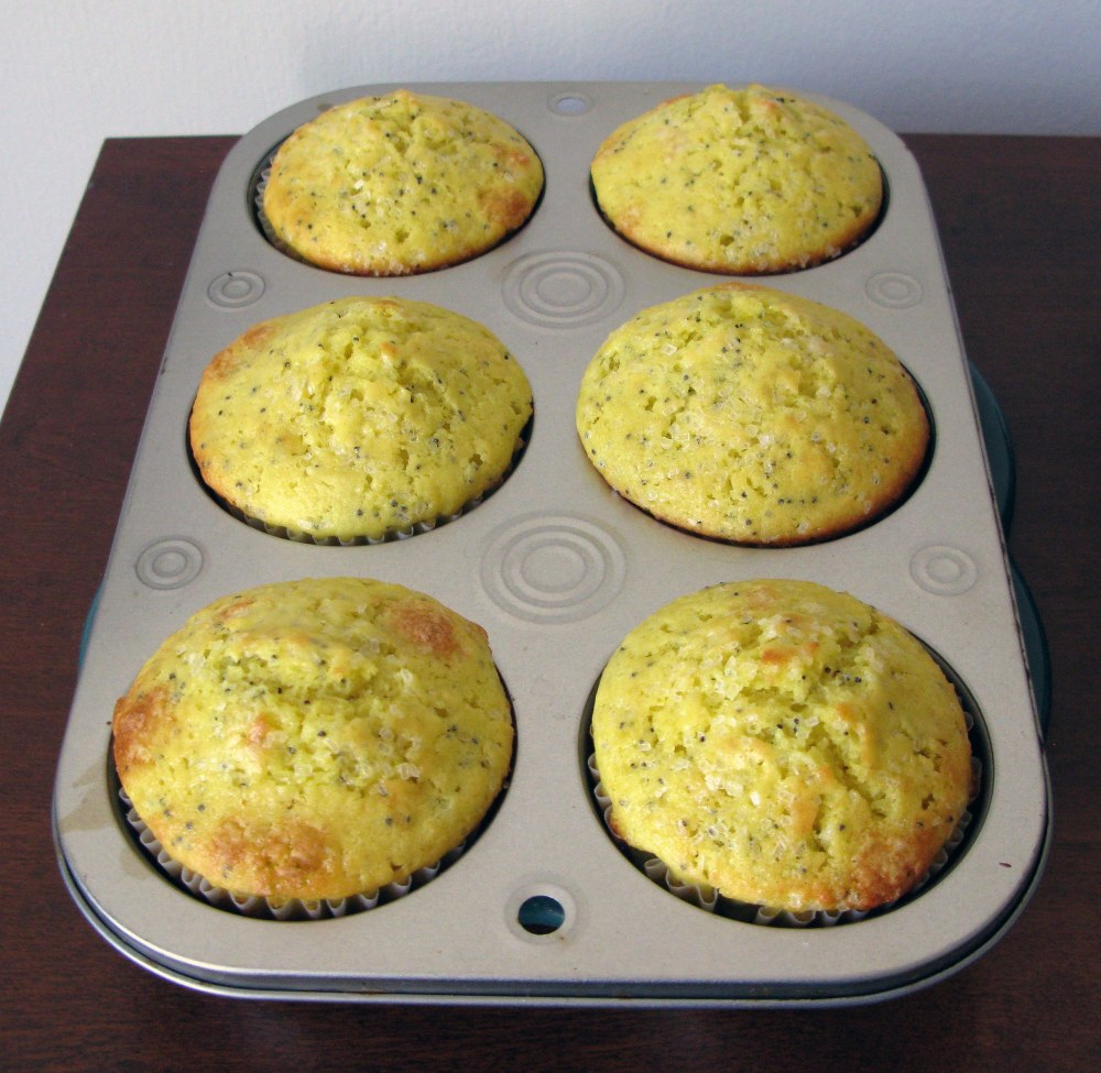 Lemon Poppy Seed Muffins After Baking