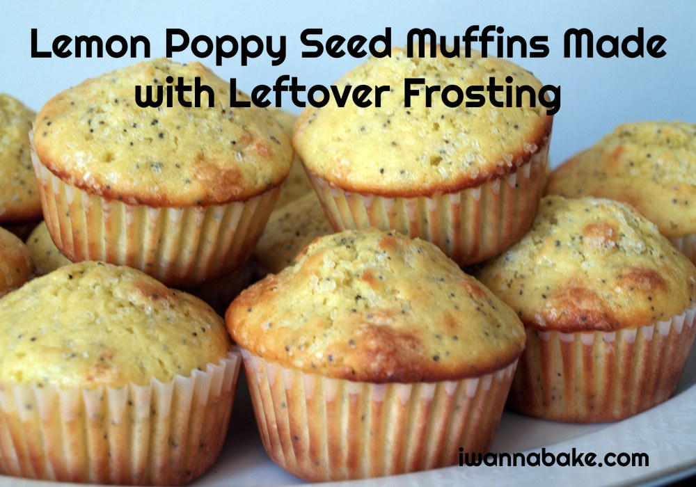 Lemon Poppy Seed Muffins Made with Leftover Frosting